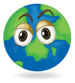 Silent earth globe — Stock Vector