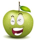 Happy apple smiley — Stock Vector