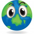 Earth globe face — Stock Vector