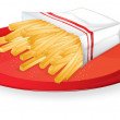 Royalty-Free Stock Vector Image: French fries