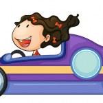 A girl driving a car — Stock Vector #13242513