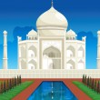 Taj mahal - Stock Vector
