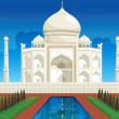 Stock Vector: Taj mahal