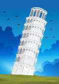 Leaning Tower of Pisa in Italy — Stock Vector