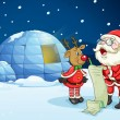 Stock vektor: Santa claus and reindeer