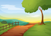 Rural landcape — Stock Vector