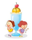 Dziewczyny i lodów — Wektor stockowy
