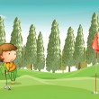 Boy playing golf - 