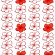 Red hibiscus flowers - Stock vektor