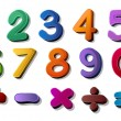 Stock Vector: Numbers and maths symbols