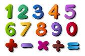 Números e símbolos de matemática — Vetorial Stock