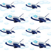 Array of aeroplane — Stock Vector