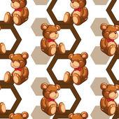 Array of teddy — Stock Vector