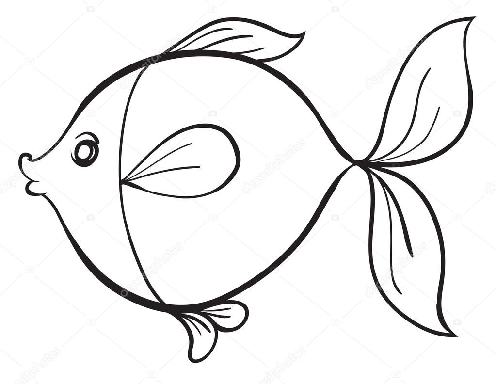 Jpg To Line Art : 물고기 — 스톡 벡터 interactimages