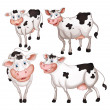 Four cows — Stock Vector