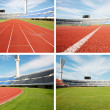 Stock Photo: Stadium and race track