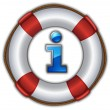 Lifesaver floating — Image vectorielle