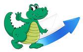 Crocodile, arrow and envelop — Stock Vector