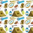 Various camping objects — Stock Vector