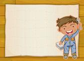 Pojke och en pappers-täcker — Stockvektor
