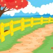 Stock Vector: Countryside path