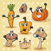 各种蔬菜 — 图库矢量图片