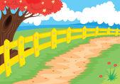 Countryside path — Stock Vector