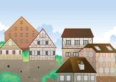 Colony of houses — Stock Vector