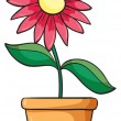 A flower plant in a pot — Stock Vector