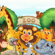 A zoo and the animals — Stock Vector #13859504