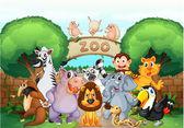 Zoo et animaux — Vecteur