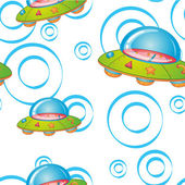 Flying saucers — Stock Vector