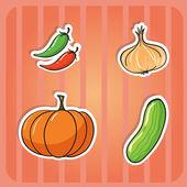 Vegetables — Stock Vector