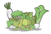 Various vegetables — Stock Vector