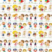 孩子们 — 图库矢量图片
