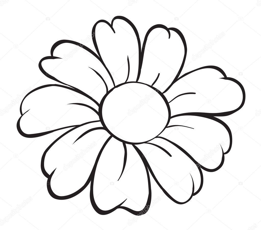 Flower sketch — Stock Vector © interactimages