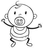 A baby sketch — Stock Vector