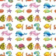 Various sea animals — Imagen vectorial