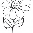 A flower and a pot sketch — Imagen vectorial