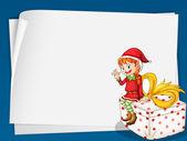 Elf card — Stock Vector