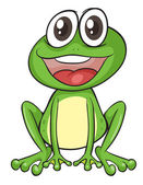 Simple frog — Stock Vector