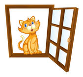 Cat and window — Stock Vector