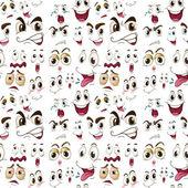 Expressões de rosto — Vetorial Stock