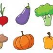 Various vegetables — Stock Vector