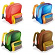 Stock Vector: School bags
