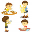 A four kids — Stock Vector #14043418