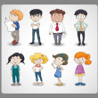 Various persons — Stock Vector