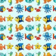 Various sea animals - Imagens vectoriais em stock