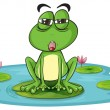 Royalty-Free Stock Vector Image: A frog and a water