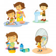 Kids — Vector de stock #14043961